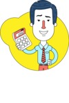 Flat Linear Employee Vector Character Design AKA Steve the Office Guy - Shape 1