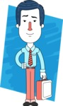 Flat Linear Employee Vector Character Design AKA Steve the Office Guy - Shape 13