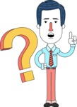 Flat Linear Employee Vector Character Design AKA Steve the Office Guy - Question