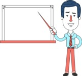 Flat Linear Employee Vector Character Design AKA Steve the Office Guy - Presentation 3