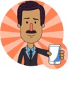 Flat Indian Man Vector Character Design AKA Diego - Shape 1