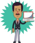 Flat Indian Man Vector Character Design AKA Diego - Shape 4