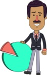 Flat Indian Man Vector Character Design AKA Diego - Chart