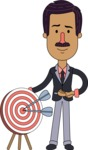 Flat Indian Man Vector Character Design AKA Diego - Target