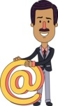 Flat Indian Man Vector Character Design AKA Diego - Email