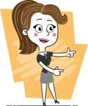 Hand Drawn Girl Cartoon Vector Character AKA Cynthia - Shape 2