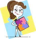 Hand Drawn Girl Cartoon Vector Character AKA Cynthia - Shape 6