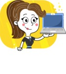Hand Drawn Girl Cartoon Vector Character AKA Cynthia - Shape 7