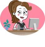 Hand Drawn Girl Cartoon Vector Character AKA Cynthia - Shape 8
