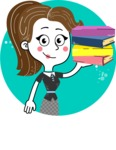 Hand Drawn Girl Cartoon Vector Character AKA Cynthia - Shape 9