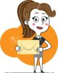 Hand Drawn Girl Cartoon Vector Character AKA Cynthia - Shape 11