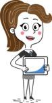 Hand Drawn Girl Cartoon Vector Character AKA Cynthia - iPad 2