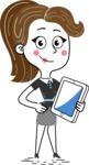 Hand Drawn Girl Cartoon Vector Character AKA Cynthia - iPad3