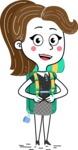 Hand Drawn Girl Cartoon Vector Character AKA Cynthia - Travel 2