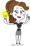 Hand Drawn Girl Cartoon Vector Character AKA Cynthia - Idea 1