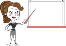 Hand Drawn Girl Cartoon Vector Character AKA Cynthia - Presentation 3