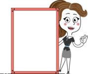Hand Drawn Girl Cartoon Vector Character AKA Cynthia - Presentation 4