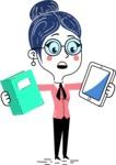 Carla Blushing - Book and iPad