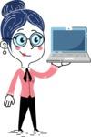 Carla Blushing - Laptop 2