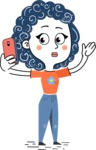 Flat Hand Drawn Casual Girl Vector Character AKA Cassidy - Duckface
