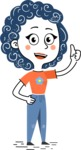 Flat Hand Drawn Casual Girl Vector Character AKA Cassidy - Thumbs Up