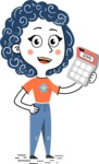 Flat Hand Drawn Casual Girl Vector Character AKA Cassidy - Calculator