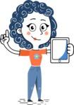 Flat Hand Drawn Casual Girl Vector Character AKA Cassidy - iPad 1