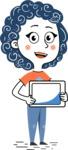 Flat Hand Drawn Casual Girl Vector Character AKA Cassidy - iPad 2