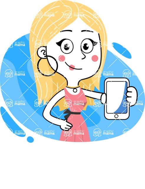 Flat Hand Drawn Girl Cartoon Vector Character AKA Maura - Shape 11