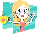 Flat Hand Drawn Girl Cartoon Vector Character AKA Maura - Shape 5