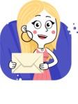 Flat Hand Drawn Girl Cartoon Vector Character AKA Maura - Shape 9