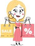 Flat Hand Drawn Girl Cartoon Vector Character AKA Maura - Sale2