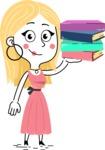 Flat Hand Drawn Girl Cartoon Vector Character AKA Maura - Book 2