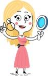 Flat Hand Drawn Girl Cartoon Vector Character AKA Maura - Search