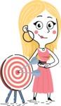 Flat Hand Drawn Girl Cartoon Vector Character AKA Maura - Target