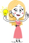 Flat Hand Drawn Girl Cartoon Vector Character AKA Maura - Idea 1