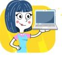 Hand Drawn Illustration of Vector Female Character AKA Greta - Shape 6