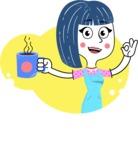 Hand Drawn Illustration of Vector Female Character AKA Greta - Shape 9