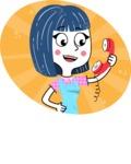 Hand Drawn Illustration of Vector Female Character AKA Greta - Shape 12