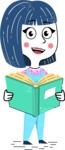 Hand Drawn Illustration of Vector Female Character AKA Greta - Book 1