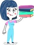 Hand Drawn Illustration of Vector Female Character AKA Greta - Book 2