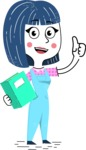 Hand Drawn Illustration of Vector Female Character AKA Greta - Book 3