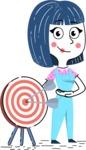 Hand Drawn Illustration of Vector Female Character AKA Greta - Target