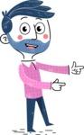 Flat Hand Drawn Man Cartoon Vector Character AKA Jonathan - Point2