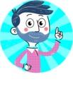 Flat Hand Drawn Man Cartoon Vector Character AKA Jonathan - Shape 1