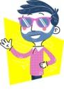 Flat Hand Drawn Man Cartoon Vector Character AKA Jonathan - Shape 2