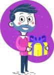 Flat Hand Drawn Man Cartoon Vector Character AKA Jonathan - Shape 3