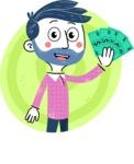 Flat Hand Drawn Man Cartoon Vector Character AKA Jonathan - Shape 4