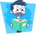 Flat Hand Drawn Man Cartoon Vector Character AKA Jonathan - Shape 5