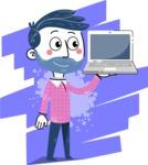 Flat Hand Drawn Man Cartoon Vector Character AKA Jonathan - Shape 6
